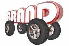 För Auto Car Model för märkesledare hjul ord Royaltyfri Bild