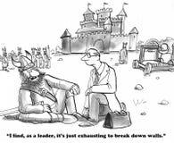 För avbrott väggar ner royaltyfri illustrationer