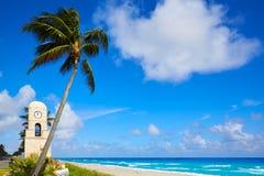För avenyklocka för Palm Beach värt torn Florida Royaltyfria Foton