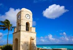 För avenyklocka för Palm Beach värt torn Florida Arkivbild