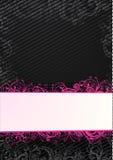 för avståndsvektor för svart kopia blom- wallpaper vektor illustrationer