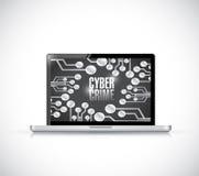 För bärbar datortecken för Caber brotts- design för illustration vektor illustrationer