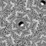 För Babushka Matryoshka för sömlös vektor geometrisk gullig bakgrund dockor arkivbild