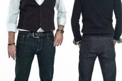 för back jeansman framåt Arkivbilder