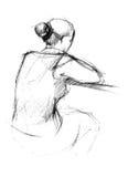 för back kvinna där Vektor Illustrationer