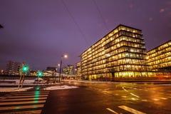 ` För `-Bahnhof stad ett nytt område i Wien Royaltyfria Foton