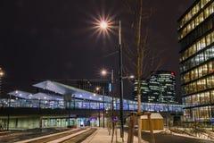 ` För `-Bahnhof stad ett nytt område i Wien Arkivfoton