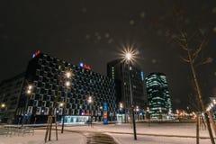 ` För `-Bahnhof stad ett nytt område i Wien Arkivbild