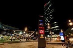 ` För `-Bahnhof stad ett nytt område i Wien Fotografering för Bildbyråer