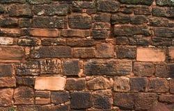 för bakgrund för stentextur sömlöst belägga med tegel vägg Royaltyfri Bild