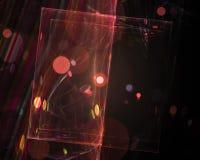 För bakgrundenergi för abstrakt beståndsdel magisk fractal för mall för vetenskap, härlig designfantasi för form, vektor illustrationer
