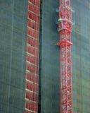 För bakgrundsabstrakt begrepp för reflexioner stads- textur Arkivbilder