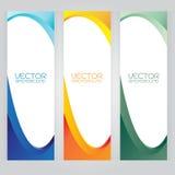 För bakgrundsabstrakt begrepp för vektor färgrik uppsättning för fastställd titelrad av krabba baner B Royaltyfri Bild