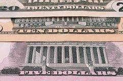För bakgrundsabstrakt begrepp för US dollar abstrakt bakgrund kassa Arkivbild