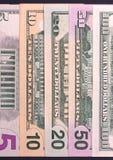 För bakgrundsabstrakt begrepp för US dollar abstrakt bakgrund kassa Royaltyfria Bilder