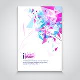För bakgrundsbaner för abstrakt triangel geometriskt utrymme för kopia vektor illustrationer
