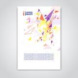 För bakgrundsbaner för abstrakt triangel geometriskt utrymme för kopia stock illustrationer
