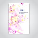 För bakgrundsbaner för abstrakt triangel geometriskt utrymme för kopia royaltyfri illustrationer