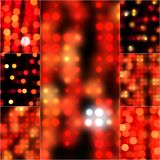 För bakgrundsbokeh för suddighet abstrakt effekt i röd färg Suddigt ljus i retro signal för tappning Oskarpa bokehcirklar för Fotografering för Bildbyråer
