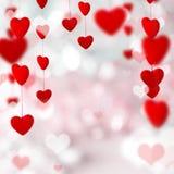 för bakgrundsdagguld röd s valentin för hjärtor Royaltyfria Bilder