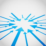 för bakgrundsdesign för pil 3d vektor Royaltyfria Bilder