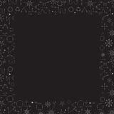 För bakgrundsgräns för vita pilar abstrakt ram för text Fotografering för Bildbyråer