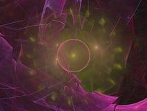 För bakgrundsidé för Fractal abstrakt unik framtida digital dröm- modern idérik magi för garnering Royaltyfri Fotografi