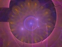 För bakgrundsidé för Fractal abstrakt unik ljus färgrik digital dröm- modern idérik magi för garnering Royaltyfri Foto