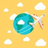för bakgrundsillustration för flygplan 3d white för lopp Fotografering för Bildbyråer