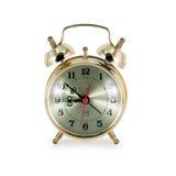 för bakgrundsklocka för alarm 3d white för bild för guld Royaltyfri Fotografi