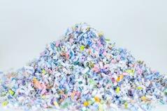 För bakgrundsmodell för pappers- dokumentförstörare abstrakt begrepp för textur Royaltyfria Bilder