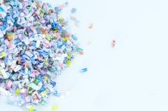 För bakgrundsmodell för pappers- dokumentförstörare textur Royaltyfria Foton