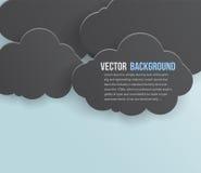 Bubblar abstrakt bakgrund för vektorn. Pappers- Arkivbilder