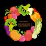 För bakgrundsvektor för mat rund illustration Royaltyfri Fotografi