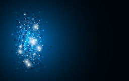 För bakgrundsvetenskap och teknik för vektor som abstrakt dator knyter kontakt innovativt begrepp