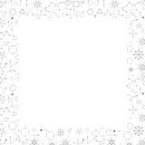 För bakgrundswhith för svarta pilar abstrakt ram för gräns för text Royaltyfri Bild