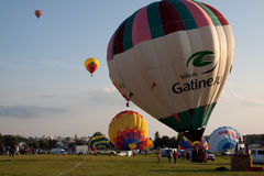 för ballongfestival för luft 2009 varm gatineau arkivfoto