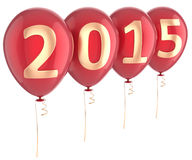 För ballongparti för nytt år 2015 garnering för ferie Royaltyfri Fotografi