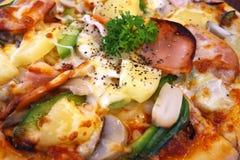 för banapeperoni för clipping bild isolerad pizza Arkivbilder