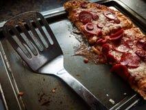 för banapeperoni för clipping bild isolerad pizza Arkivfoto