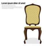 för banatappning för stol clipping isolerad white vektor illustrationer