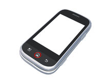 för banatelefon för cell clipping isolerad white Arkivfoton