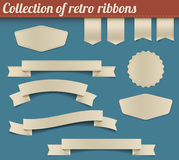 för bandetiketter för samling retro vektor Royaltyfria Foton
