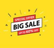 för bandförsäljning för klar illustration röd vektor för etikett Specialt erbjudande, stor försäljning, rabatt, bästa pris, mega  stock illustrationer