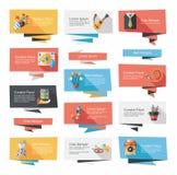 För banerbakgrund för födelsedag plan uppsättning, eps10 Arkivbilder