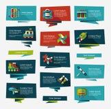 För banerbakgrund för leksak plan uppsättning, eps10 Arkivfoton