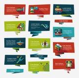 För banerbakgrund för leksak plan uppsättning, eps10 Royaltyfria Bilder