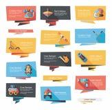 För banerbakgrund för leksak plan uppsättning, eps10 Arkivbild