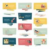 För banerbakgrund för leksak plan uppsättning, eps10 Royaltyfri Bild
