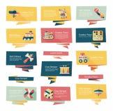 För banerbakgrund för leksak plan uppsättning, eps10 Arkivfoto